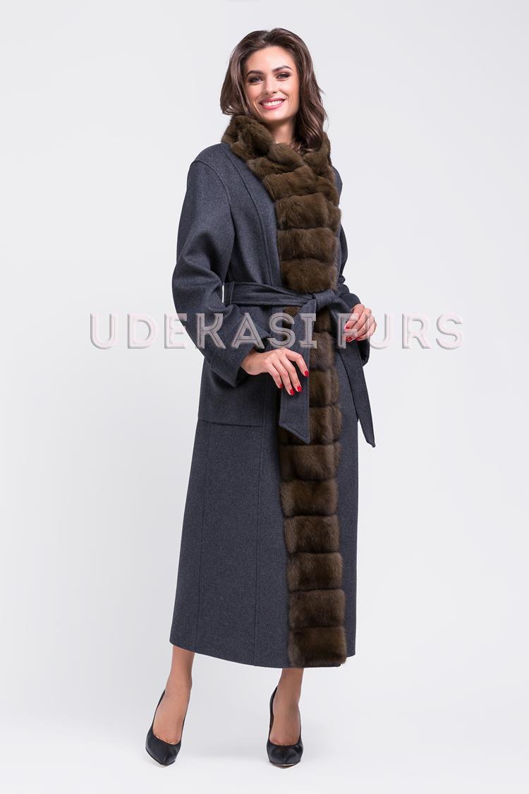 Пальто с мехом соболя 9013-13 от магазина Udekasi Furs ... 3ebd184313147