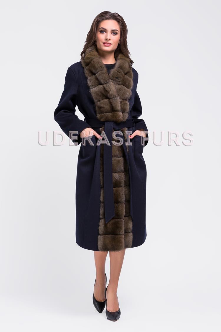 Пальто с мехом соболя 9037-06 от магазина Udekasi Furs ... f7068f83874cb